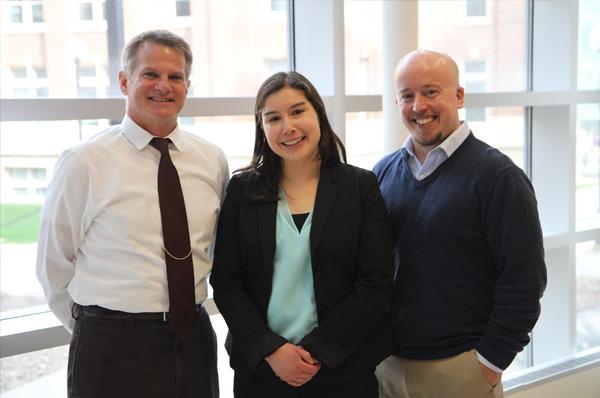 Vic Massaglia, Megan LaFontaine, and Darren Kaltved