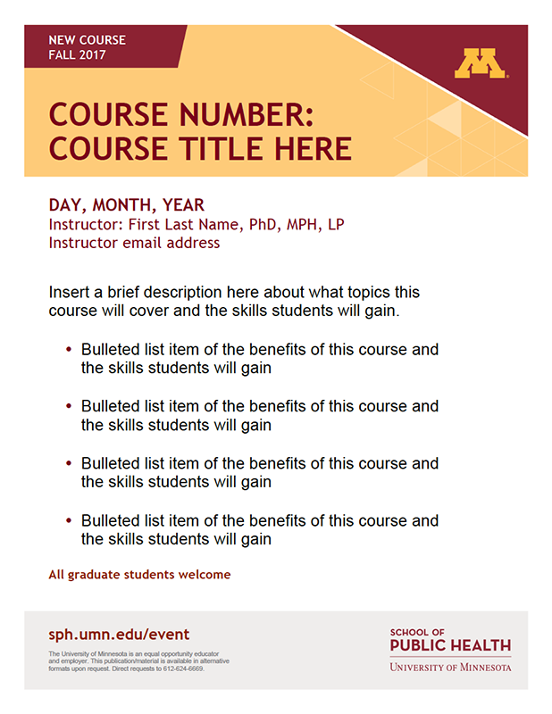 Brand Course Flyer