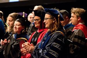 faculty at graduation