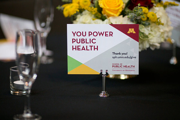 you power public health thank you card on table