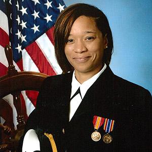 Xarviera Appling in her United States Navy uniform.
