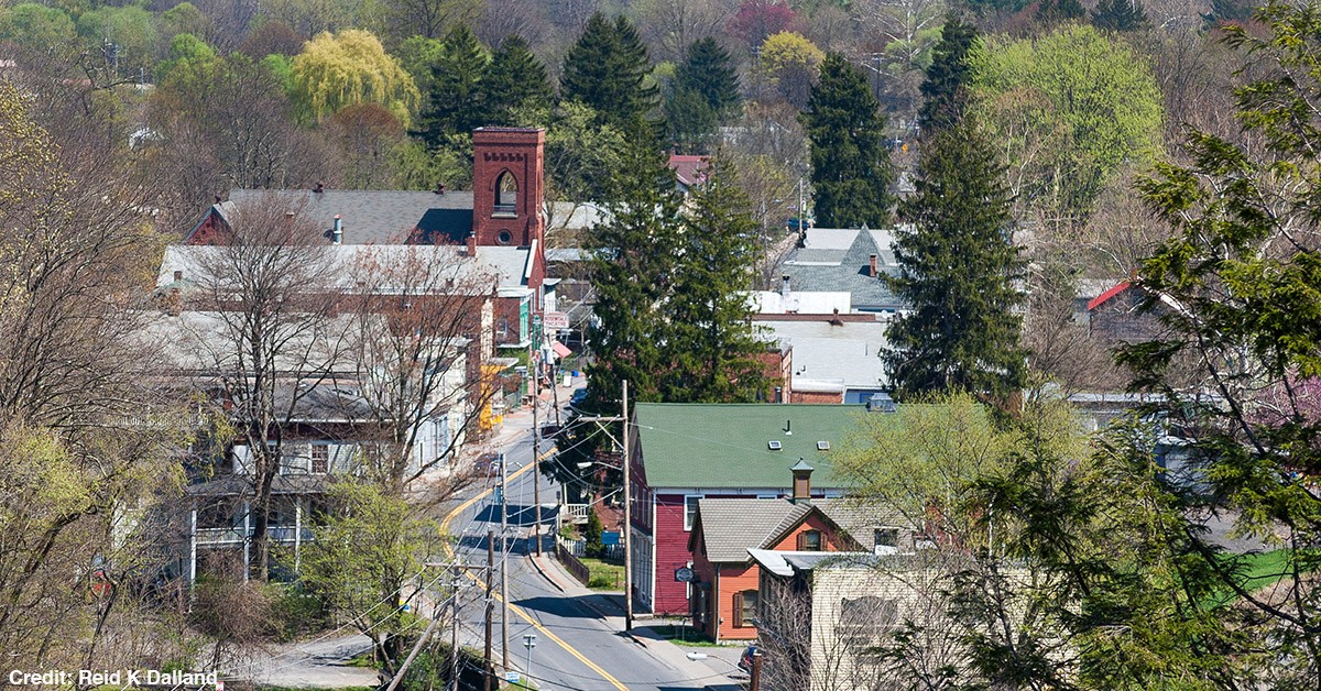 A small town in America.