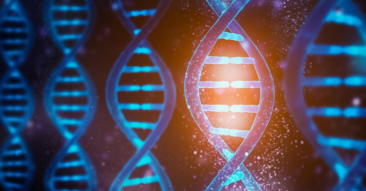 Strands of human DNA