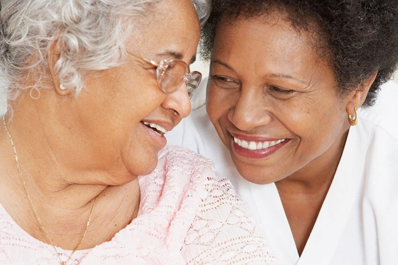 aging people smiling