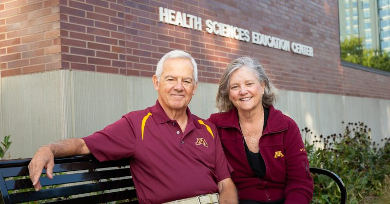 Mary Ellen Wells, MHA '84 and Bill Arendt