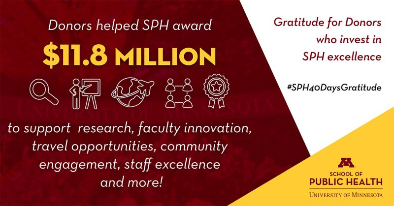 donors gave 11.8 million dollars to support research and faculty