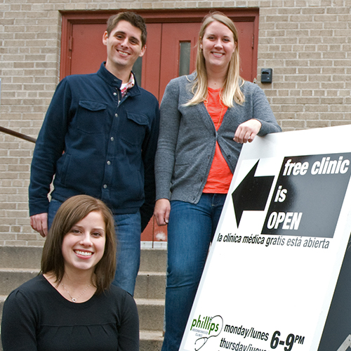 Epidemiology students at the Phillips Neighborhood Clinic