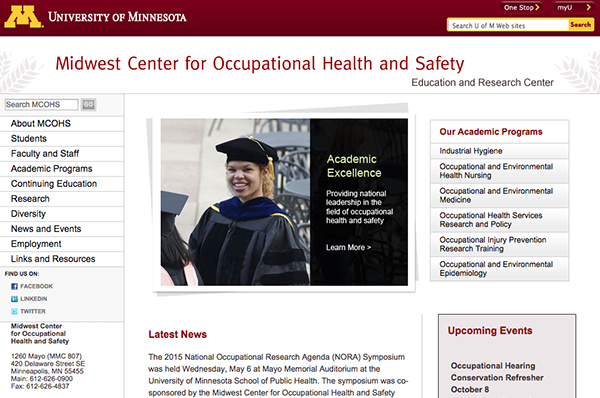 MCOHS website