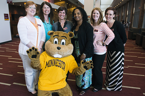 SPH staff with Goldy