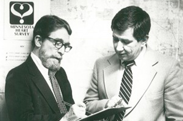 Faculty members Henry Blackburn and Russell Luepker