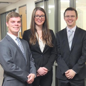 2016 UAB team and MHA students Caleb Ahrns, Jenny Pandl, and Brett LeFevre
