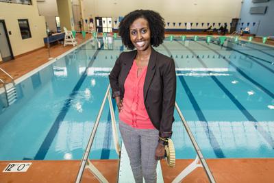 Amira Adawe smiling