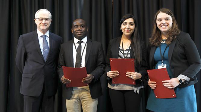 Dean John R. Finnegan Jr., Oluwaseun Fashanu, Makshita Luthra, and Jennifer Grimm