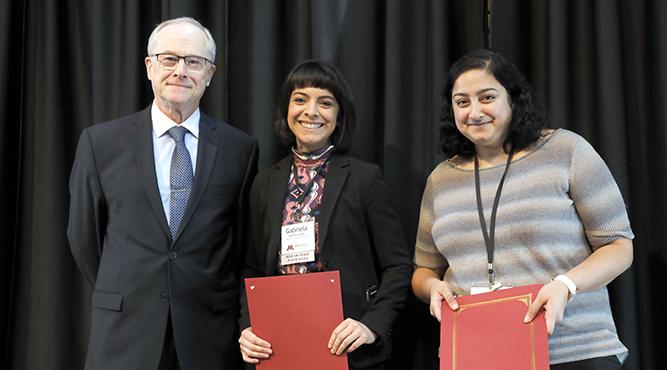 Dean John R. Finnegan Jr., Gabriela Lazalde and Manami Bhattacharya