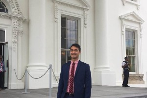 Jake Maxon on the steps of the White House.